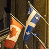 Canadian and Quebec flags