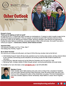 Osher Outlook Newsletter